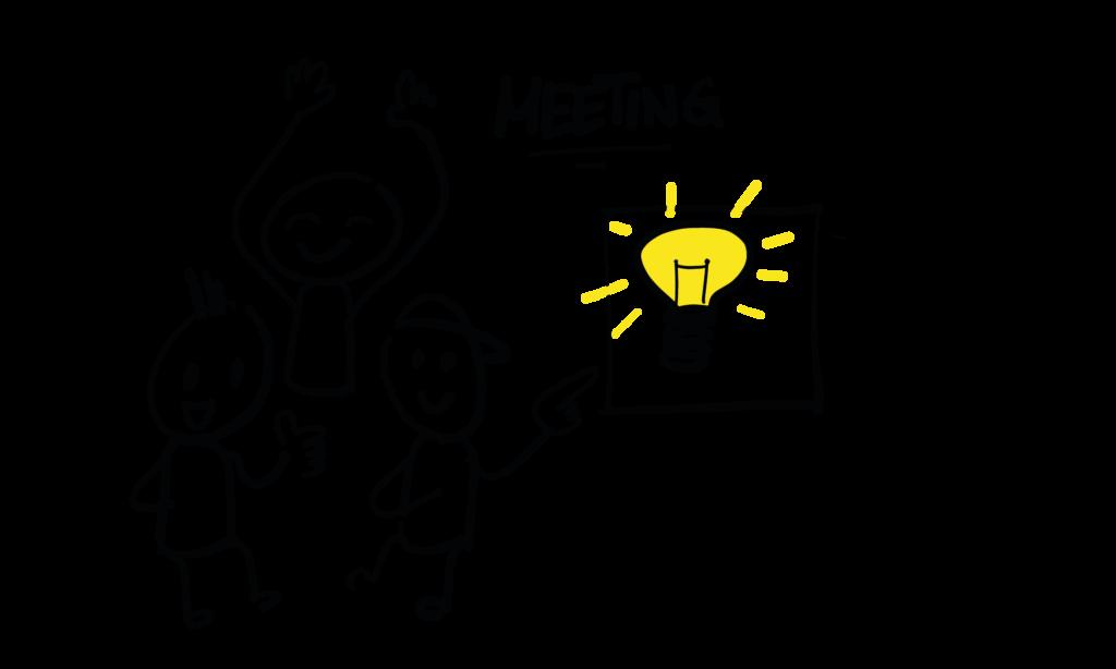 Headlines und Online-Ideen im Kreativ-Meeting entwickeln